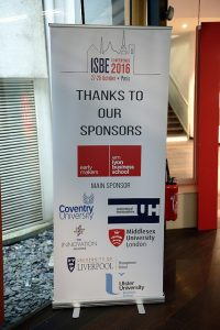 ISBE 2016 Doctoral Day sponsors